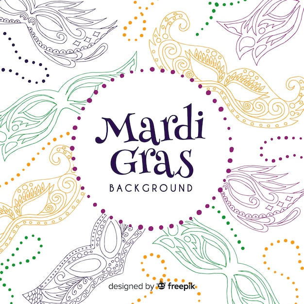 Mardi gras carnival background Free Vector