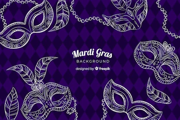 Mardi gras carnival background Free Vector