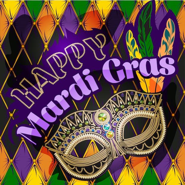 Mardi gras mask Premium Vector