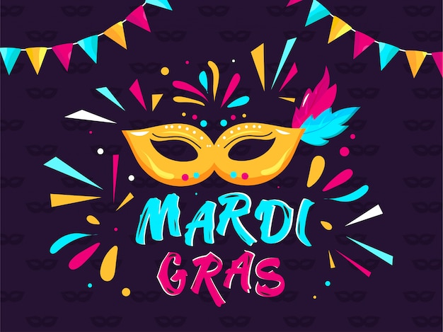 Mardi grass background Premium Vector