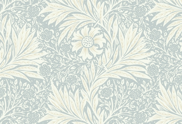Marigold by william morris Free Vector