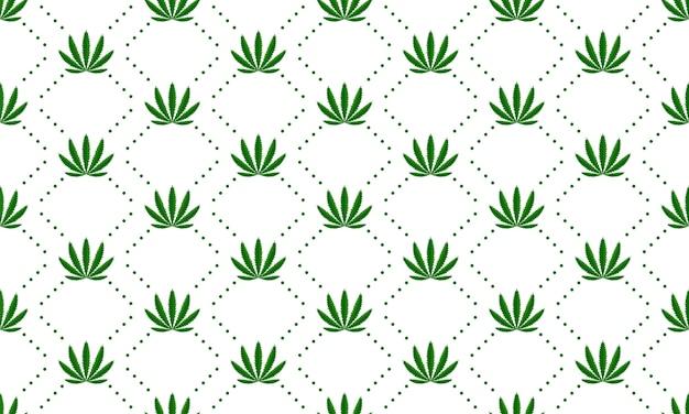 Marijuana leaves seamless vector pattern Free Vector