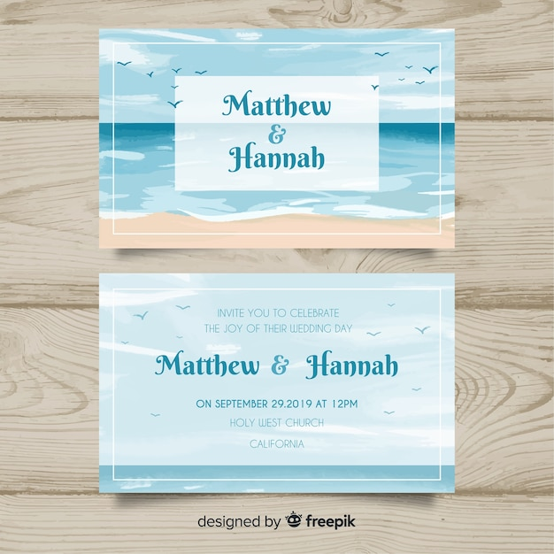 Marine Wedding Invitations: Marine Wedding Invitation Template Vector