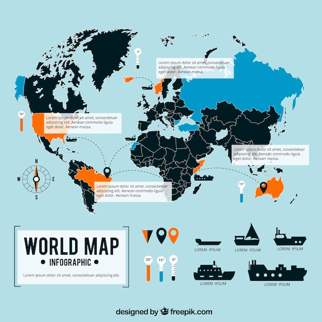 Maritim world map infographic vector free download maritim world map infographic free vector gumiabroncs Choice Image