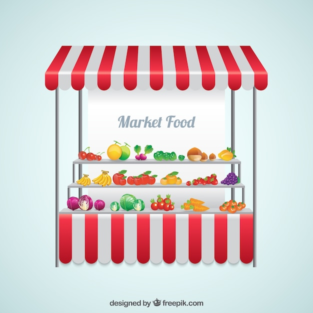 Market food Free Vector