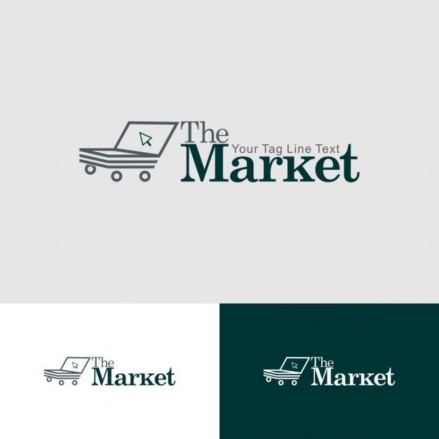 market logo vector free download