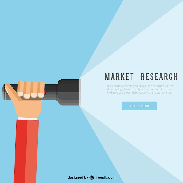 Market Research Vector  Free Download