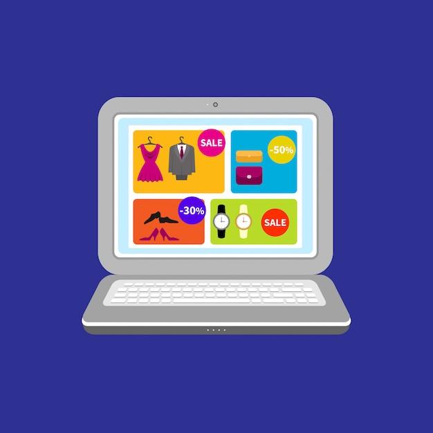 マーケティングおよびオンラインショッピング Premiumベクター