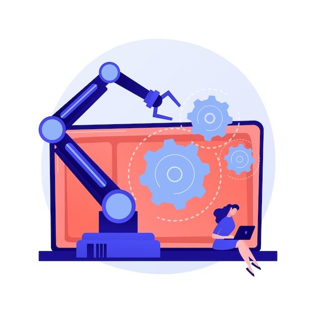 マーケティングオートメーションソフトウェアとcrm。 webベースのソリューション、顧客関係管理、デジタルコマース。カスタマーエクスペリエンス管理の概念図 無料ベクター