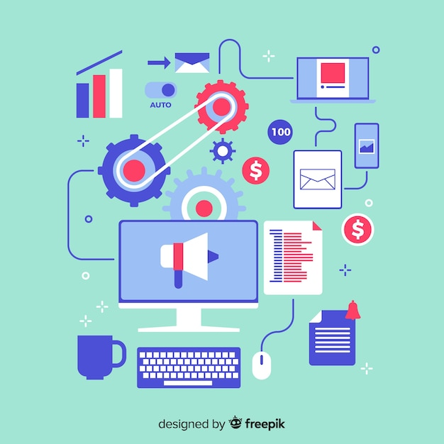 Marketing automation Free Vector