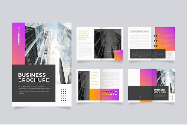 Marketing brochure template layout Free Vector