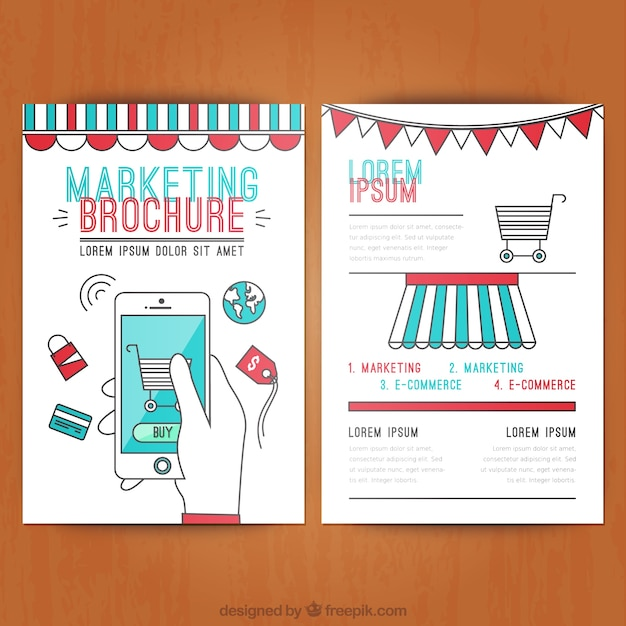 Marketing Brochure Vector  Free Download