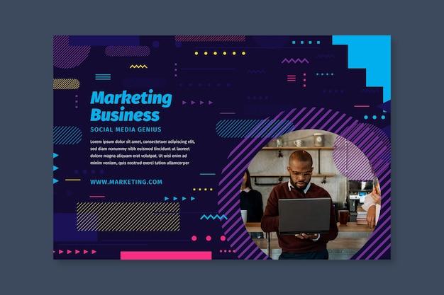 Modello di banner aziendale di marketing Vettore gratuito