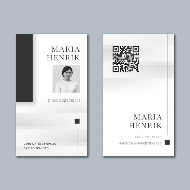 Marketing business id card template Free Vector