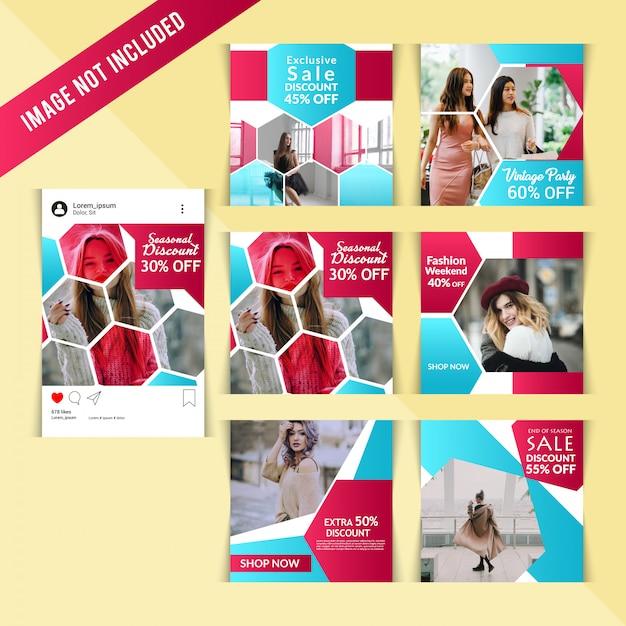 Marketing business instagram covers Premium Vector