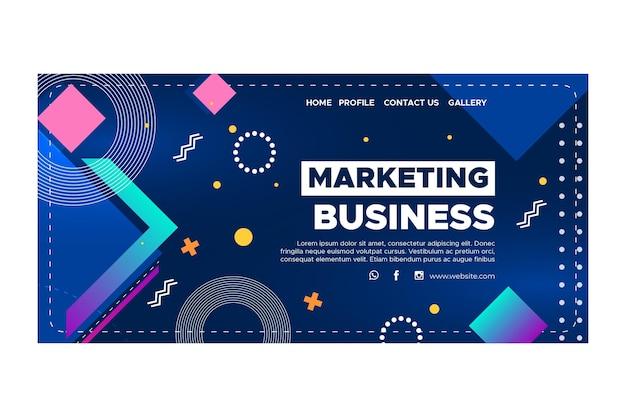 마케팅 비즈니스 방문 페이지 템플릿 프리미엄 벡터