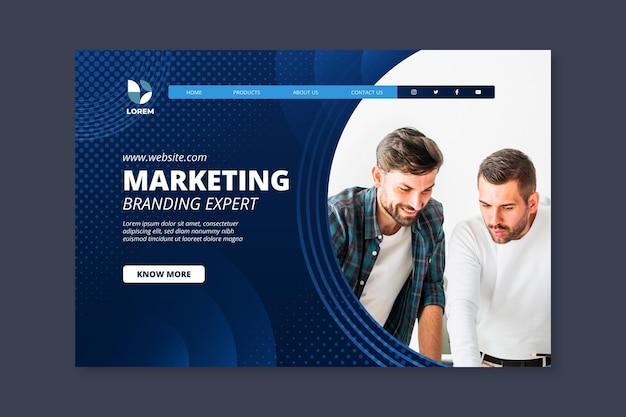 Шаблон целевой страницы маркетингового бизнеса Premium векторы