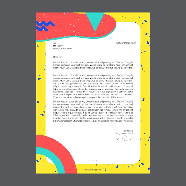 Marketing business letterhead Free Vector