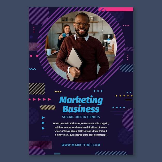 Шаблон рекламного бизнес-плаката Бесплатные векторы