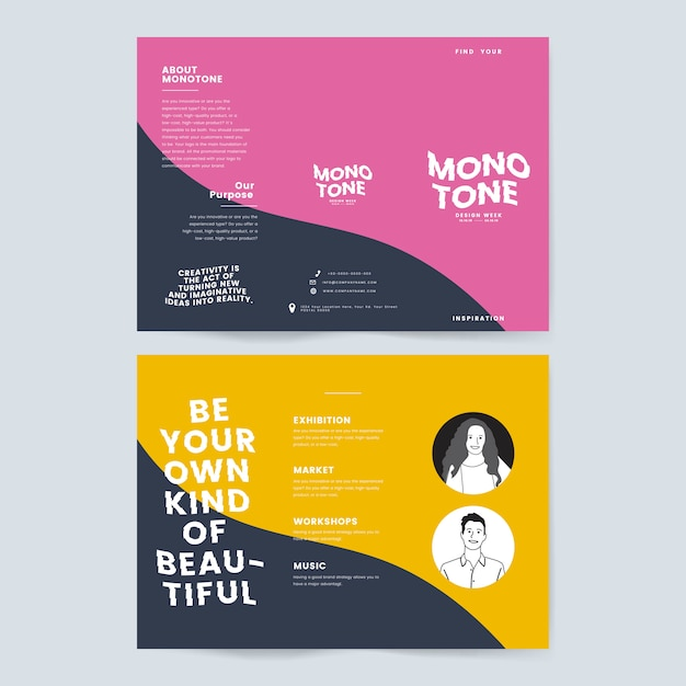 Marketing Collateral: Leaflet Template Vector