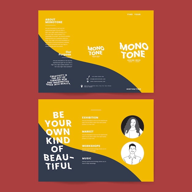 Marketing collateral: leaflet templates Free Vector