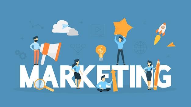 Marketing concept illustration Premium Vector