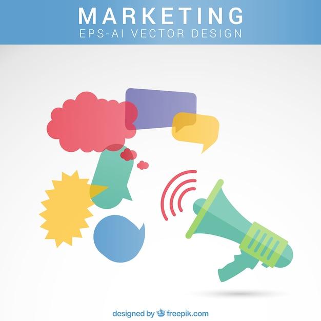Marketing concept Free Vector