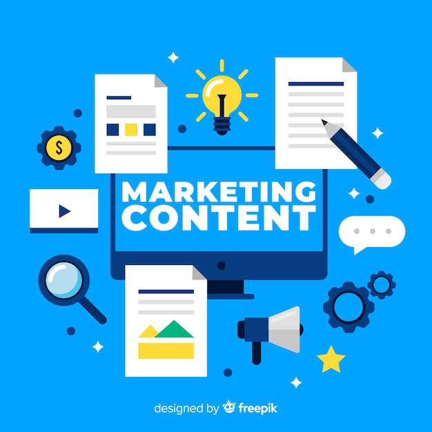 Marketing content concept Free Vector