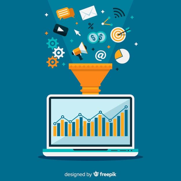 marketing conversion funnel vector