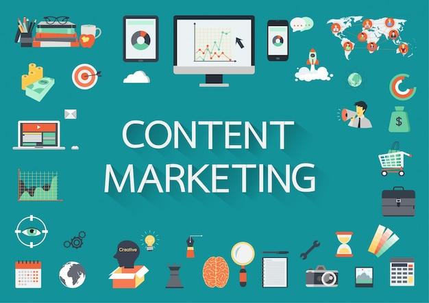Marketing elements background Free Vector