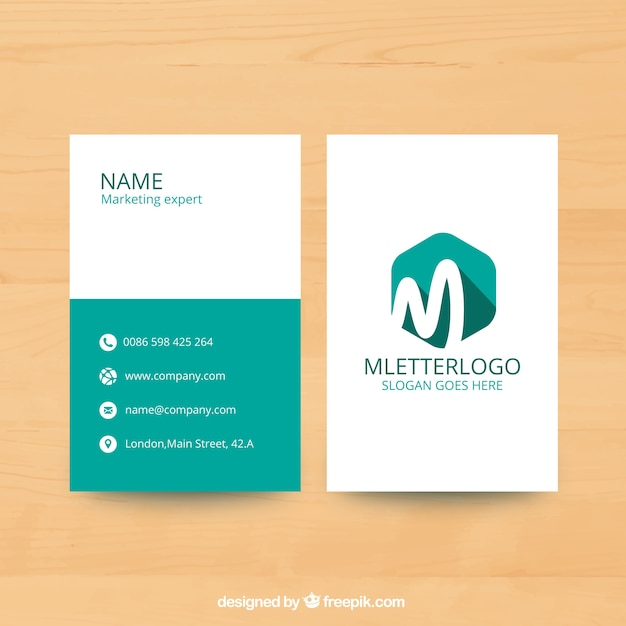 marketing flyer template with hexagon vector free download