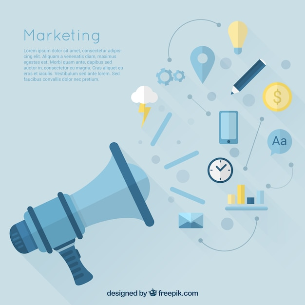 Marketing icons Free Vector