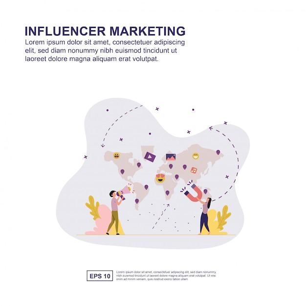 Marketing influence concept Premium Vector