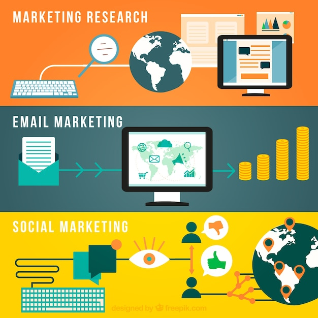 Marketing infographic Free Vector