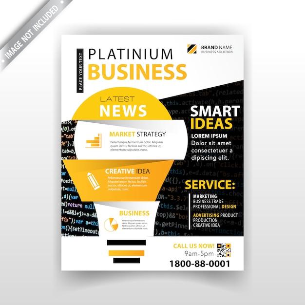 marketing magazine template Free Vector