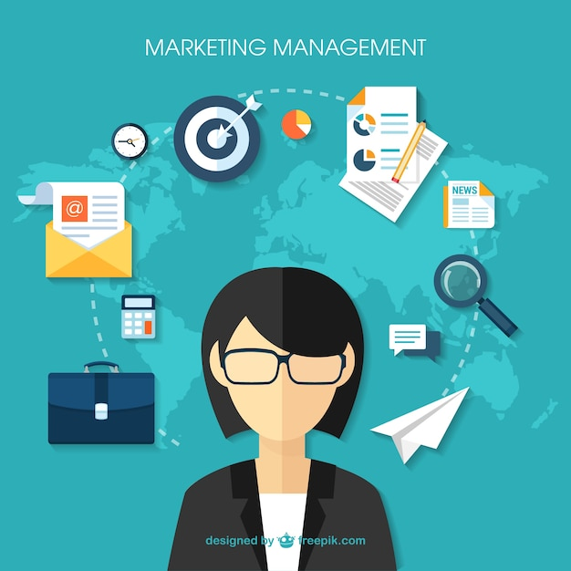 Marketing management Vector  Free Download