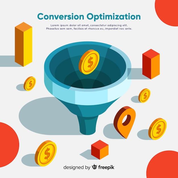 Marketing optimization background template Free Vector