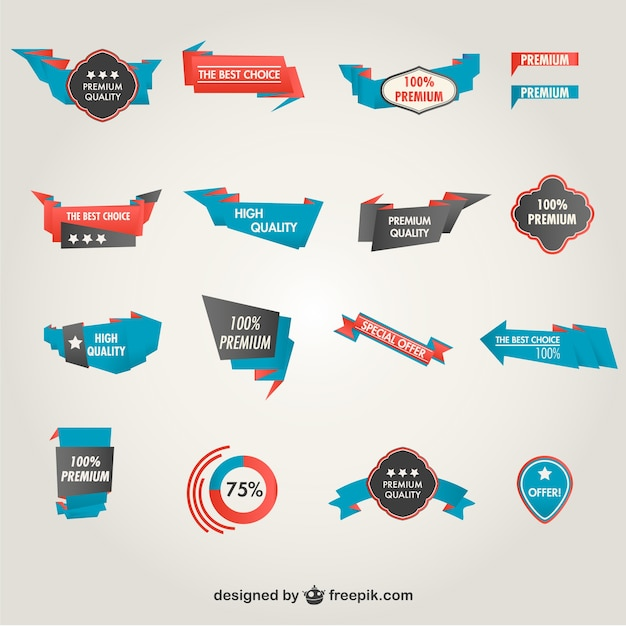 Marketing promotional elements Free Vector