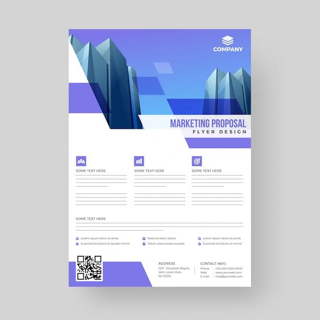 Marketing proposal, advertisement concept. Premium Vector