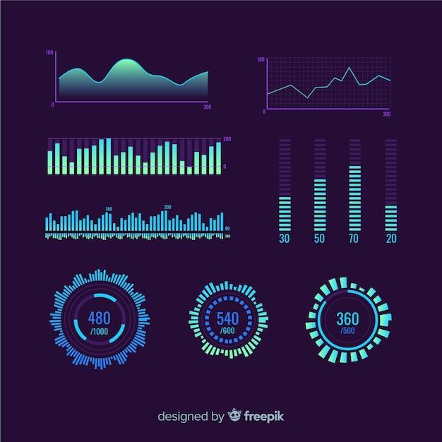 Маркетинговая статистика развития бизнеса Бесплатные векторы