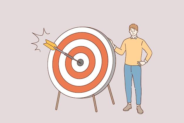 マーケティング戦略と目的の概念 Premiumベクター