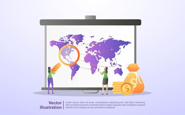 Концепция маркетинговой стратегии. объявления о внимании, цифровой маркетинг, связи с общественностью, рекламная кампания, продвижение бизнеса. Premium векторы