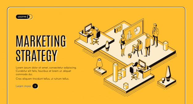 Marketing strategy, financial analytic company Free Vector