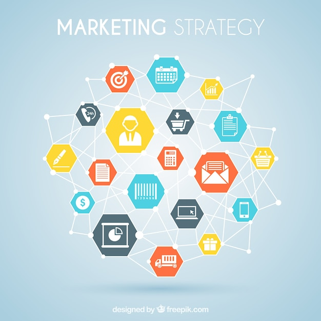 Marketing strategy graphic Vector  Free Download