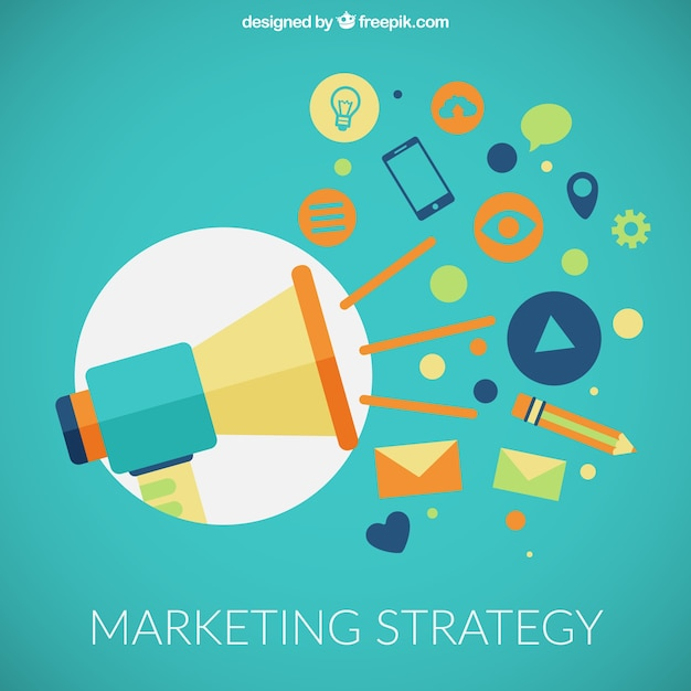 Marketing Strategy Icons Vector  Free Download