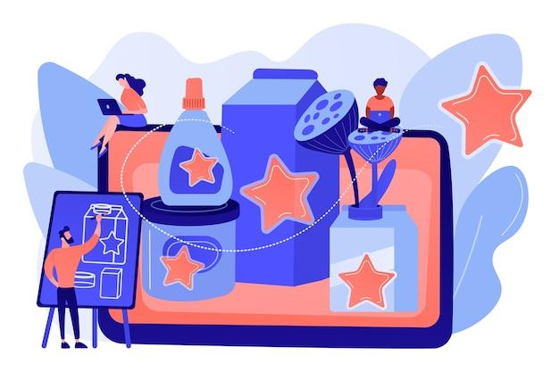 마케팅 전략, 프로모션 캠페인, 디자이너 제작 콘텐츠 무료 벡터
