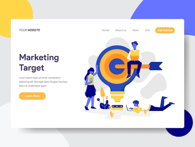 Marketing target  for web page Premium Vector