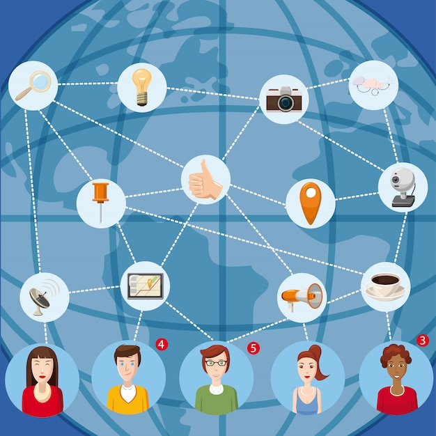 Marketing technology concept. cartoon illustration of marketing technology vector concept for web Premium Vector