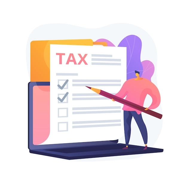 Marking checkbox on document. tax management. billing obligation. giving permission. approve decision, check box, signature stroke. warranty list. vector isolated concept metaphor illustration. Free Vector