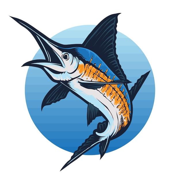 Marlin fish vector Premium Vector